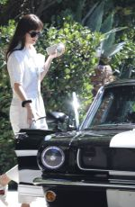 DAKOTA JOHNSON and Chris Martin Drive Out in a Vintage Shelby GT in Malibu 10/05/2019