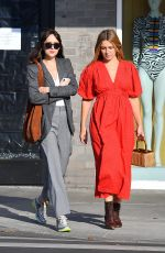 DAKOTA JOHNSON Out for Lunch with a Friend in Los Angeles 10/09/2019