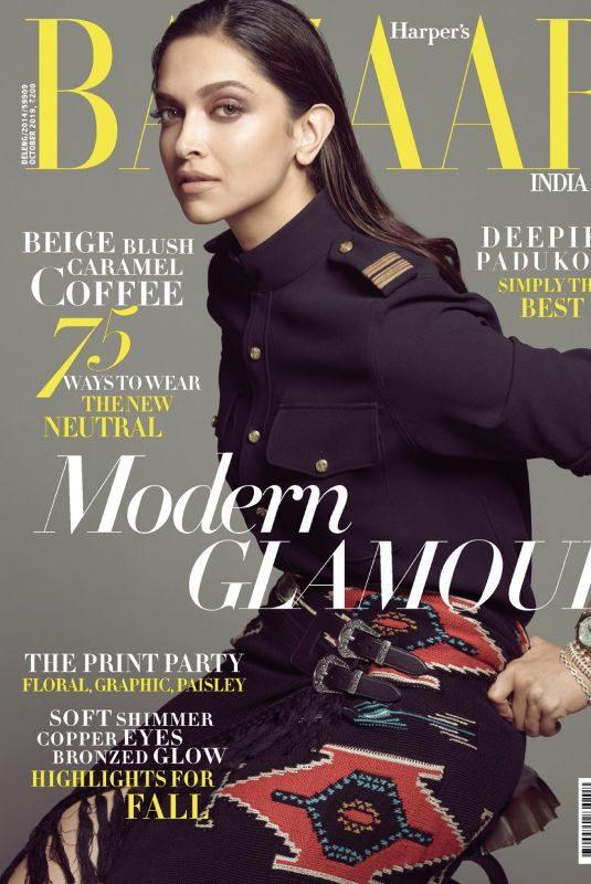 DEEPIKA PADUKONE in Harper's Bazaar Magazine, India October 2019