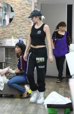 DELILAH and AMELIA HAMLIN at a Nail Salon in Los Angeles 10/14/2019