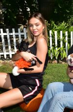 DELILAH and AMELIA HAMLIN Out with Their Dogs in Beverly Hills 10/14/2019