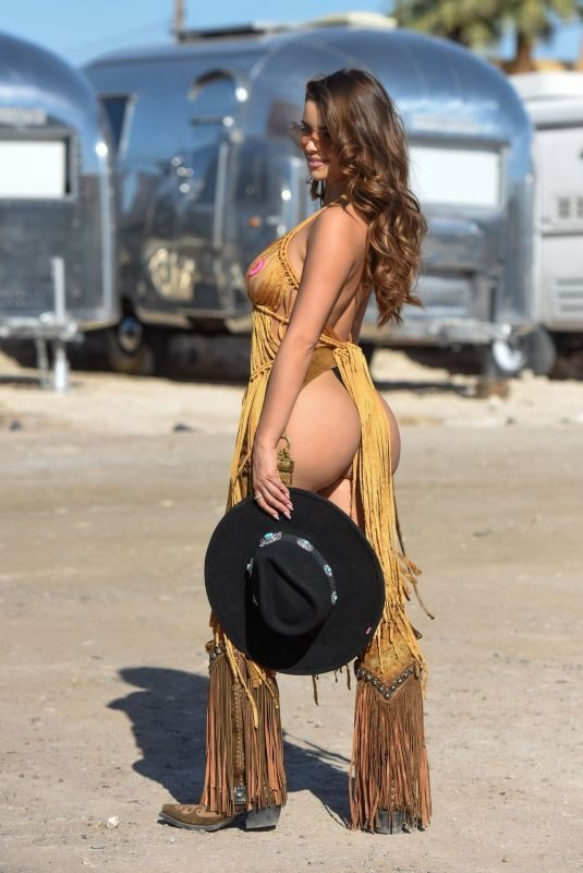 DEMI ROSE MAWBY on the Set of a Photoshoot at Redrock Canyon, October 2019