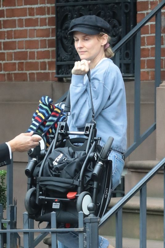 DIANE KRUGER Leaves Her Home in New York 10/06/2019