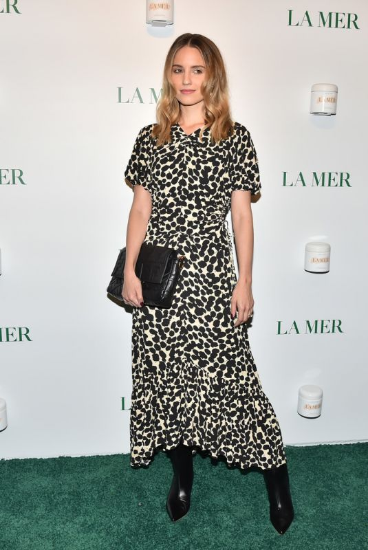 DIANNA AGRON at La Mer by Sorrenti Campaign Launch in New York 10/03/2019