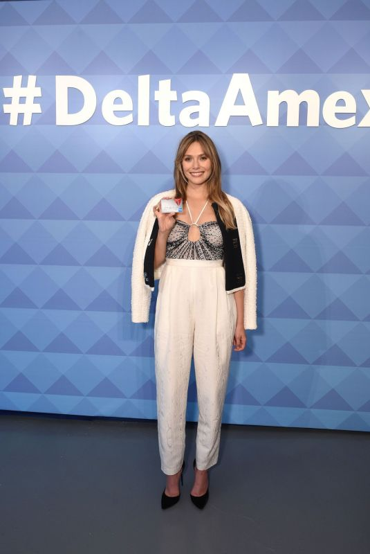 ELIZABETH OLSEN at American Express and Delta Air Lines #deltaamex Card Relaunch in New York 10/02/2019