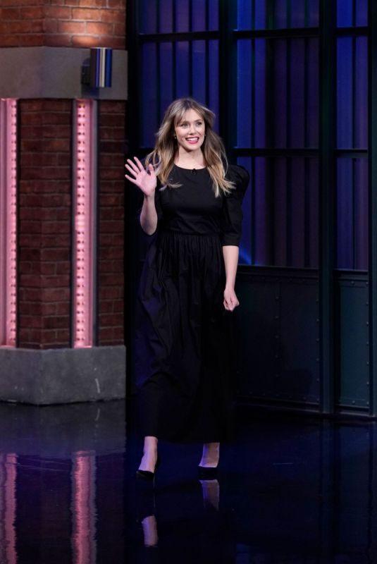 ELIZABETH OLSEN at Late Night with Seth Meyers 10/09/2019