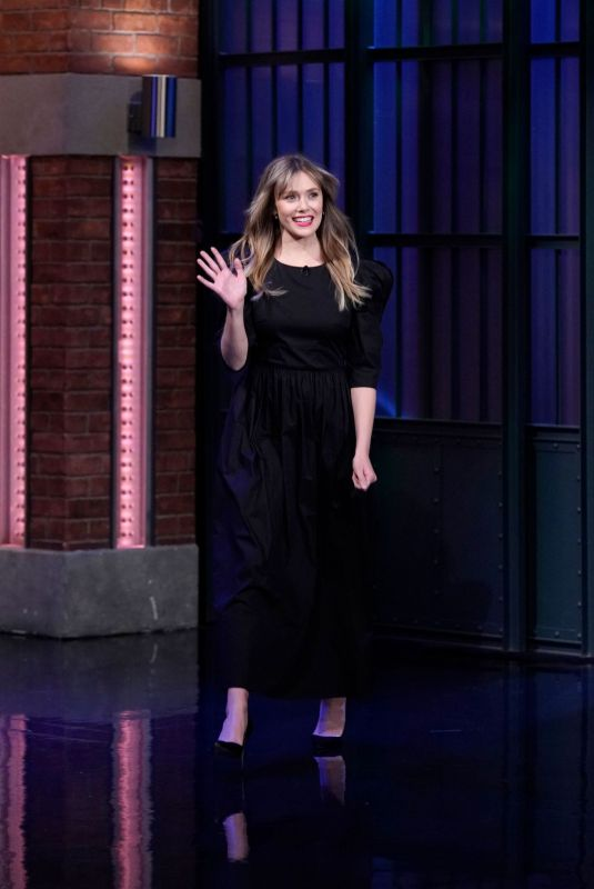 ELIZABETH OLSEN at Late Night with Seth Meyers 10/09/2019