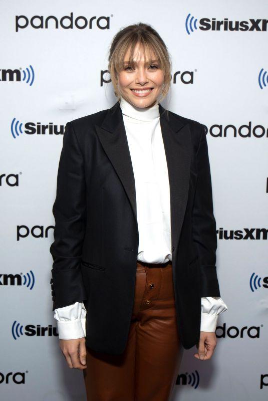 ELIZABETH OLSEN at SiriusXM in New York 10/08/2019