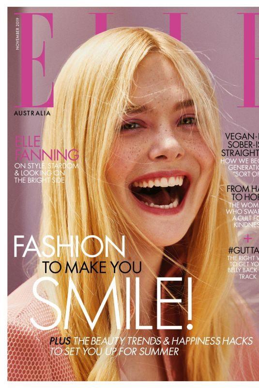 ELLA FANNING for Elle Magazine, Australia November 2019