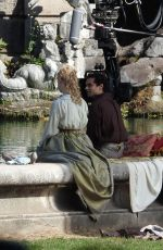 ELLA FANNING on the Set of The Great at Royal Palace of Caserta 10/23/2019