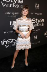 ELLA PURNELL at 2019 Instyle Awards in Los Angeles 10/21/2019