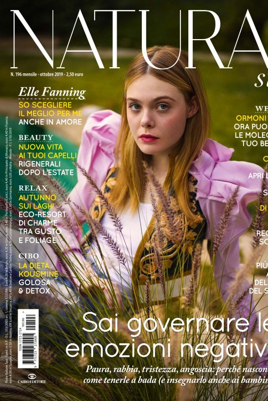 ELLE FANNING in Natural Style Magazine, Italy October 2019