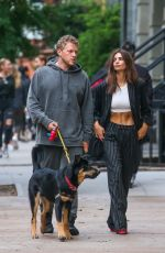EMILY RATAJKOWSKI and Sebastian Bear-McClard Out with Their Dog in New York 10/06/2019