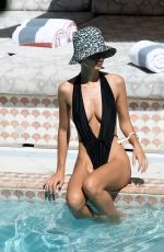 EMILY RATAJKOWSKI in Swimsuit at a Pool in Miami 15/10/2019