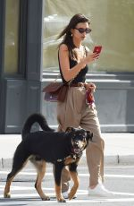 EMILY RATAJKOWSKI Out with Her Dog Colombo in New York 10/07/22019