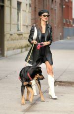 EMILY RATAJKOWSKI Out with Her Dog Colombo in New York 10/12/2019