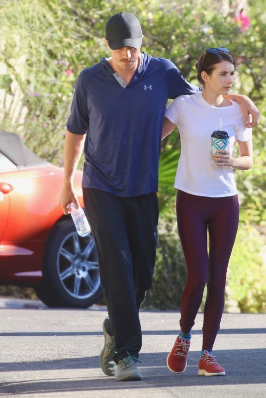 EMMA ROBERTS and Garrett Hedlund Out Hiking in Los Angeles 10/26/2019