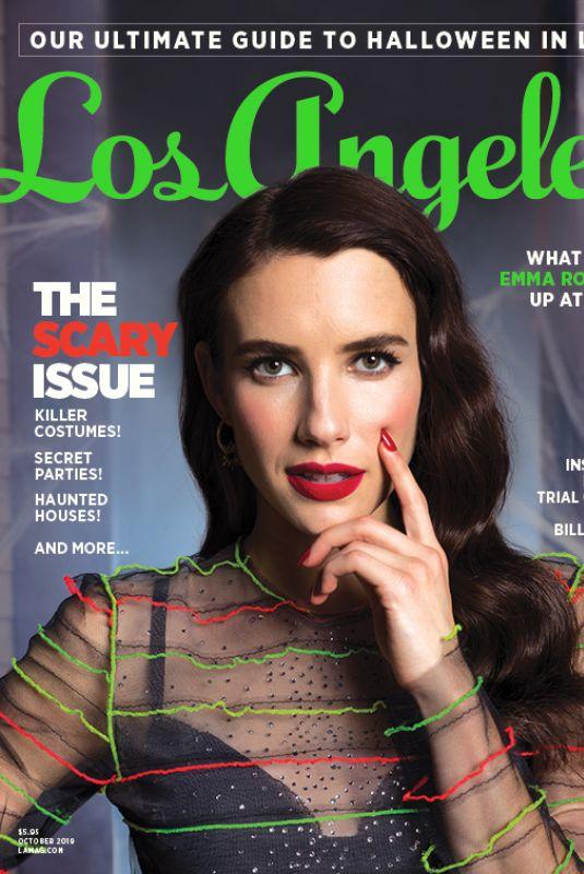 EMMA ROBERTS in Los Angeles Magazine, October 2019