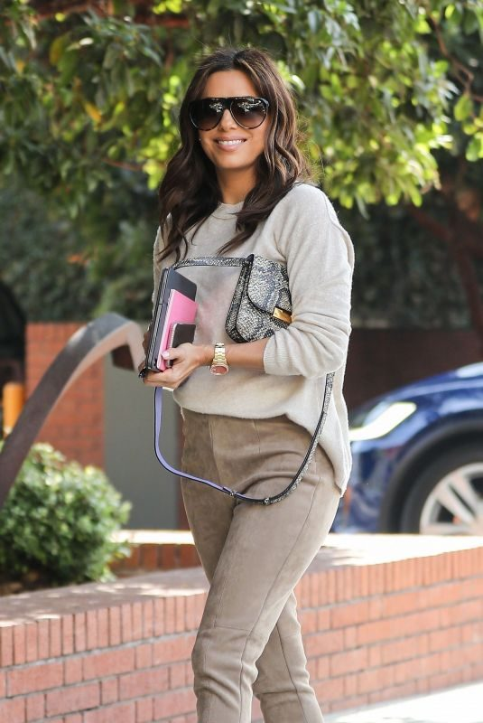 EVA LONGORIA Out for Lunch at Honor Bar in Beverly Hills 10/09/2019