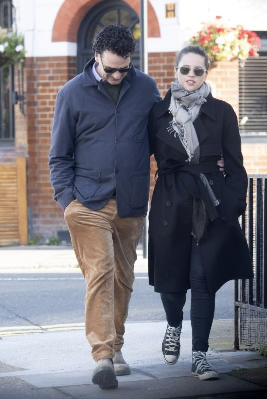 FELICITY JONES and Charles Guard Out in London 10/22/2019