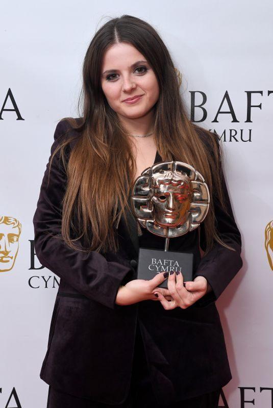 GABRIELLE CREEVY at British Academy Cymru Awards in Cardiff 10/13/2019