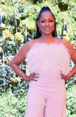 GARCELLE BEAUVAIS at Veuve Clicquot Polo Classic at Will Rogers State Park in Los Angeles 10/05/2019