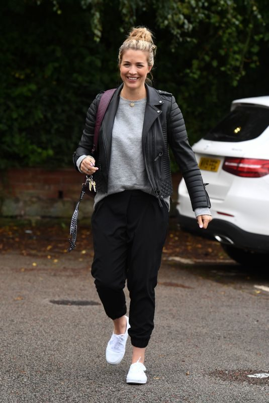 GEMMA ATKINSON Arrives at Hits Radio in Manchester 10/05/2019