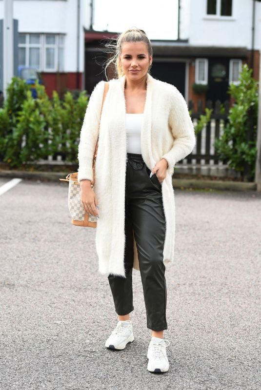 GEORGIA KOUSOULOU on the TOWIE Set in Romford 10/08/2019