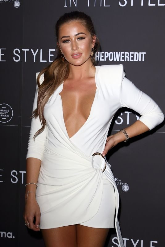 GEORGIA STEEL at In the Style, the Power Edit Launch Party in London 10/21/2019
