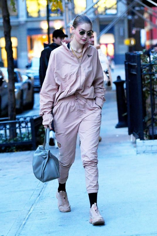 GIGI HADID Arrives at Her Apartment in New York 10/25/2019
