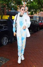 GIGI HADID Heading to Color Me Mine Studio in New York 10/09/2019
