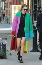 GIGI HADID Out in New York 10/18/2019