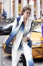 GIGI HADID Out in New York 10/19/2019