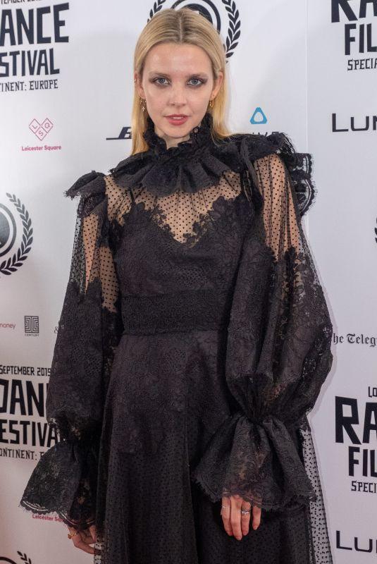 GRETA BELLAMACINA at Hurt by Paradise Premiere at Raindance Film Festival in London 09/28/2019