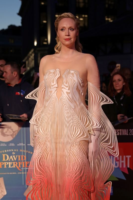GWENDOLINE CHRISTIE at The Personal History of David Copperfield Premiere at 63rd BFI London Film Festival 10/02/2019