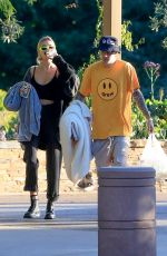 HAILEY and Justin BIEBER at a Park in Beverly Hills 10/03/2019