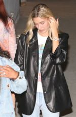 HAILEY BIEBER at Wednesday Night Church Service in Hollywood 10/16/2019