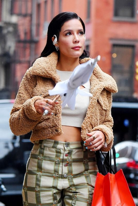 HALSEY on the Set of Beats Pro Headset Commercial in New York 10/09/2019