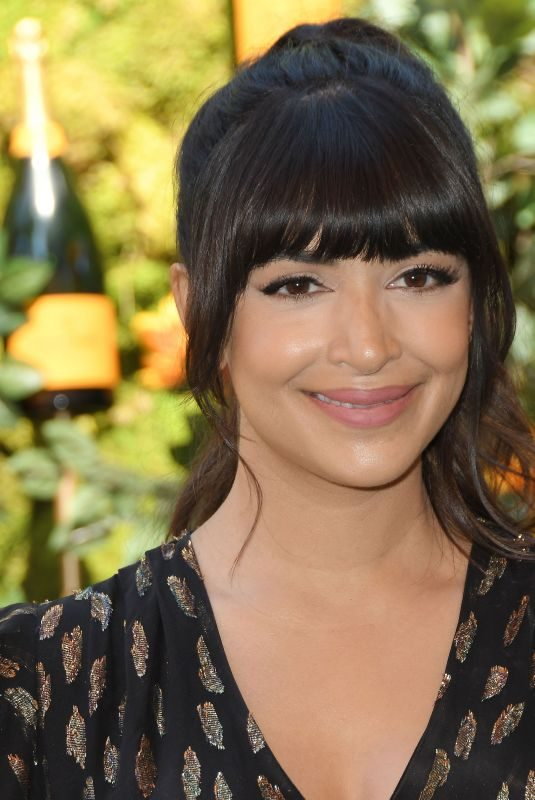 HANNAH SIMONE at Veuve Clicquot Polo Classic at Will Rogers State Park in Los Angeles 10/05/2019