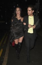 HELEN FLANAGAN Leaves Molly Mae Beauty Works Launch Party in Manchester 10/03/2019