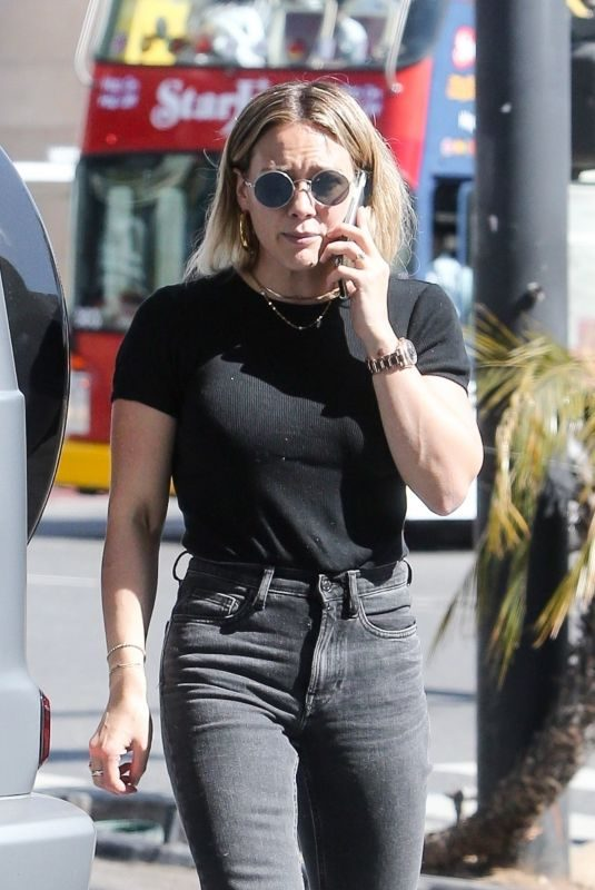 HILARY DUFF at a Gas Station in West Hollywood 10/21/2019