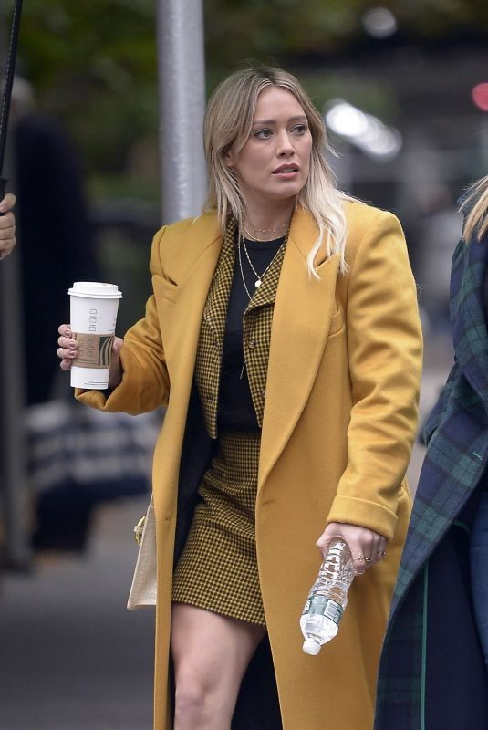 HILARY DUFF on a Break from Filming Lizzie McGuire in New York 10/29/2019