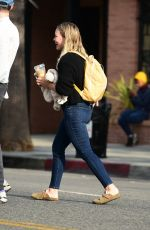 HILARY DUFF Out in Studio City 10/14/2019