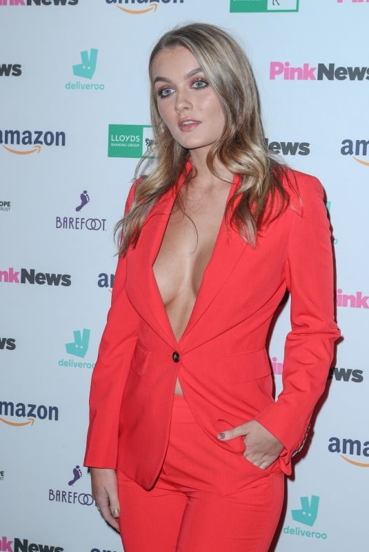 HOLLY TANDY at 2019 Pink News Awards at Westminster Abbey 10/16/2019