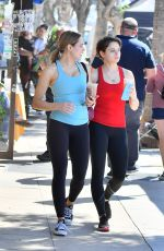 HUNTER HALEY and JOEY KING in Tights Leaves a Gym in Studio City 10/14/2019