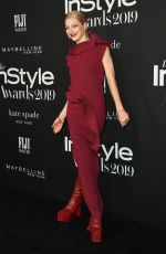 HUNTER SCHAFER at 2019 Instyle Awards in Los Angeles 10/21/2019