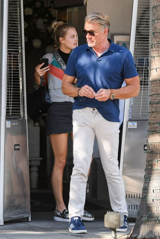 IDA and Dolph LUNDGREN Out in Los Angeles 10/25/2019