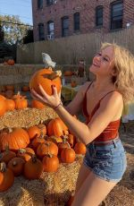 ISABELLA ACRES at a Pumpkin Patch - Instagram Photos 10/30/2019