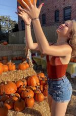 ISABELLA ACRES at a Pumpkin Patch - Instagram Photos 10/30/2019