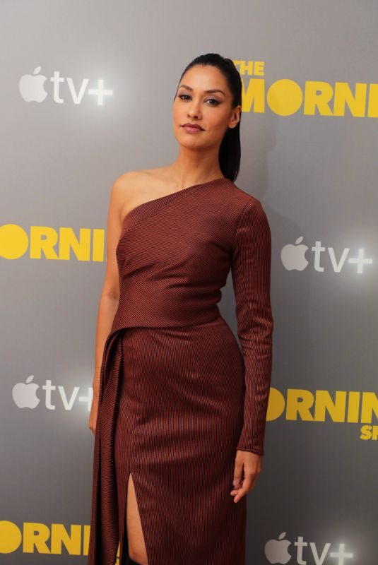 JANINA GAVANKAR at Apple's Press Day for The Morning Show in Los Angeles 10/13/2019